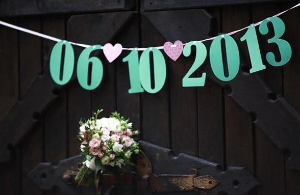 Гирлянда на свадьбу своими руками из цифр