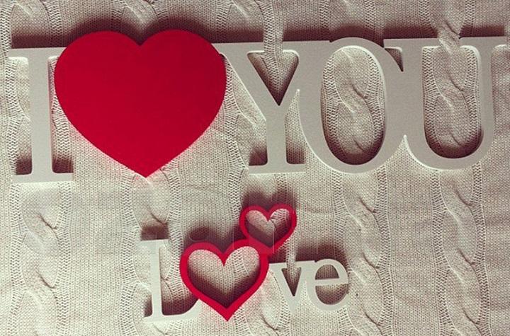 Обои с надписями про любовь для стен