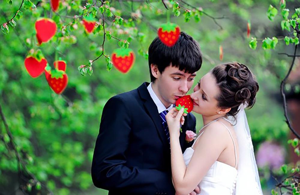 предметы для фотосессии свадебной характеризуется необычным